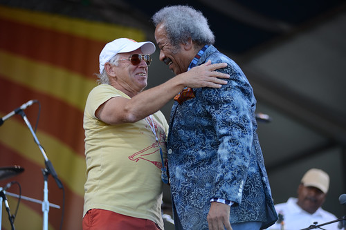 Jimmy Buffett and Allen Toussaint. Photo by Leon Morris.