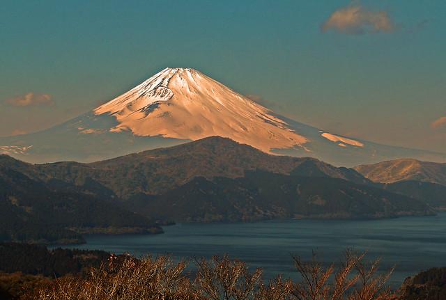 Mt.Fuji in red