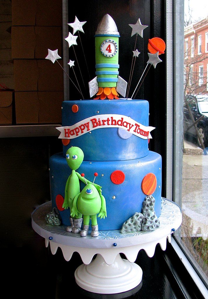 Terrific Space Themed Birthday Cake Sasa Flickr Funny Birthday Cards Online Inifofree Goldxyz