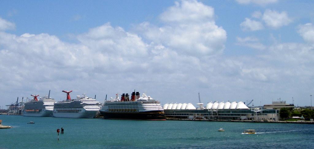 Miami - MacArthur Causeway - View Towards Cruise Ship Terminal