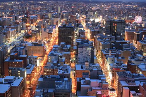 winter japan night sapporo hokkaido 北海道 日本 夜景 冬 札幌