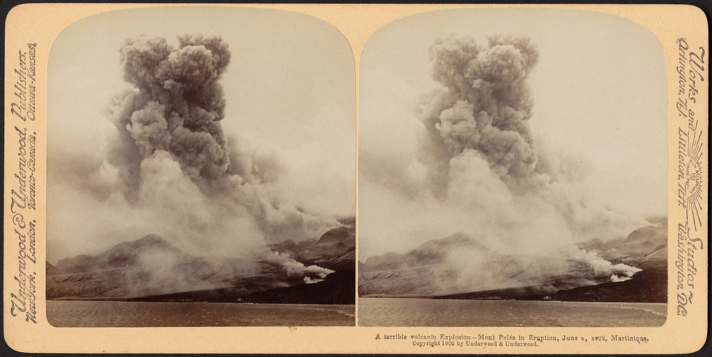 A terrible volcanic explosion - Mont Pelée in eruption, June 5, 1902, Martinique