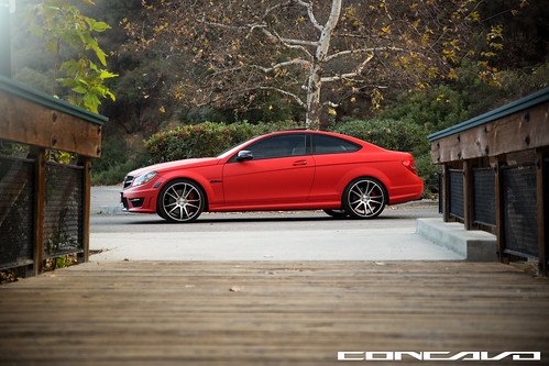 Mercedes Benz C63 AMG on CW-S5 Matte Black Machined Face | by Concavo Wheels