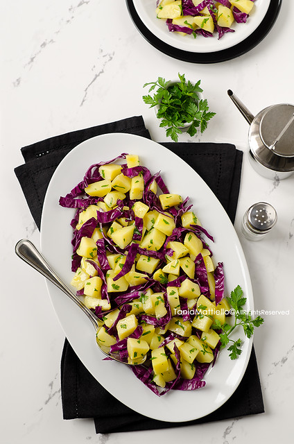 Insalata di Patate e Verza Rossa-Red Cabbage and Potato Salad