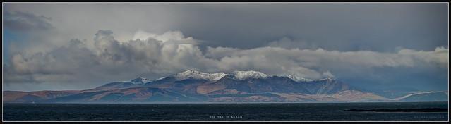 The Peaks of Arran...taken aboard a ferry off Ardrossan Quay.