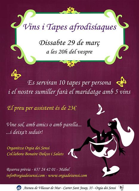 Cartell vins i tapes