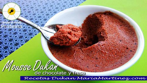 Mousse Dukan de Chocolate y Fresa | by Maria Martinez Dukan