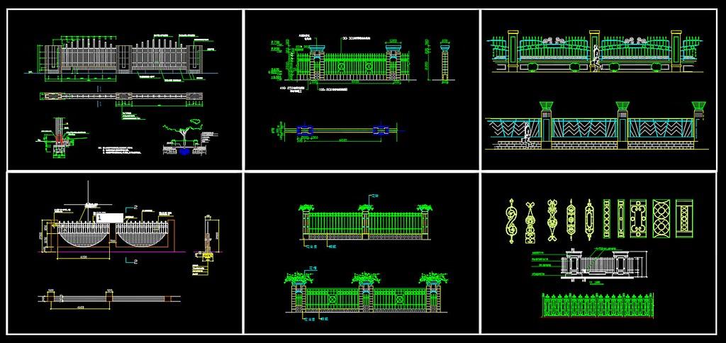 25 Wrought iron railing fence | ☆AutoCAD Blocks & Drawings