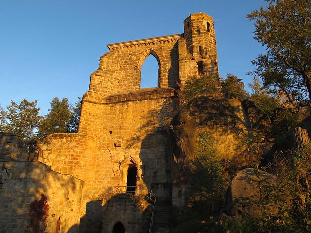 14th century castle ruins on Mount Oybin (Zittauer Gebirge, Saxony)
