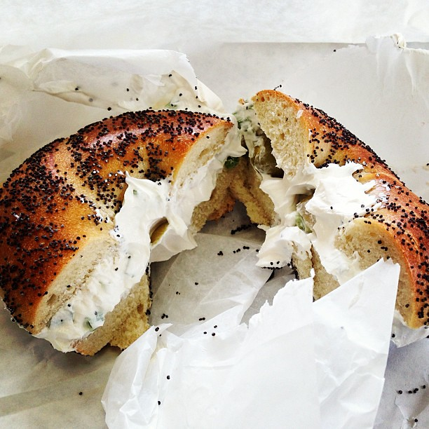 Image result for bagel and cream cheese