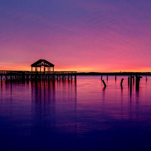 Sunset Seaside Silhouette