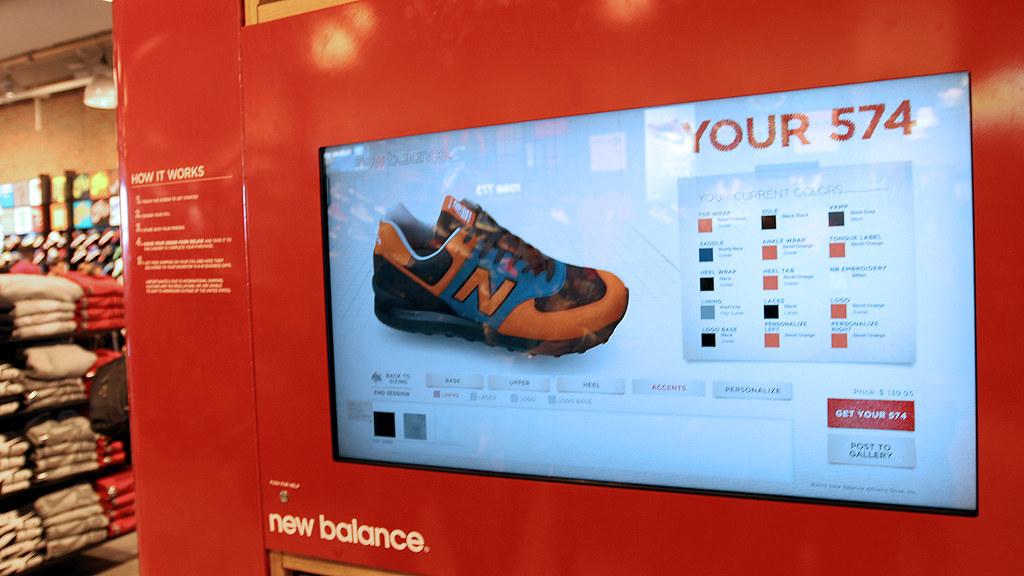 new concept d3eb1 1efe0 New Balance 574 Customization Kiosk at Foot Locker Times S ...