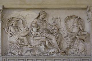 """Italia (""""Tellus"""") relief from the Ara Pacis Augustae"""