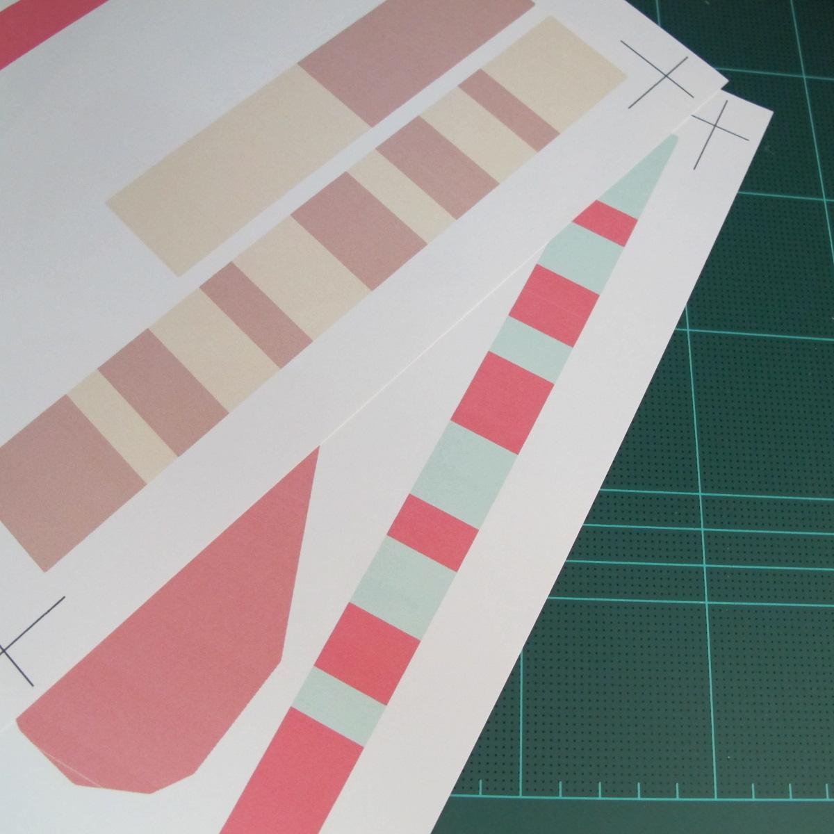 วิธีทำโมเดลกระดาษเป็นกล่องของขวัญรูปหัวใจ (Heart Box Papercraft Model) 001