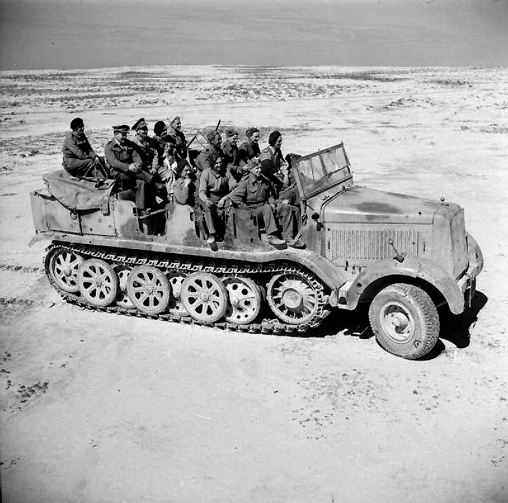 German Sdkfz8 in North Africa in British hands
