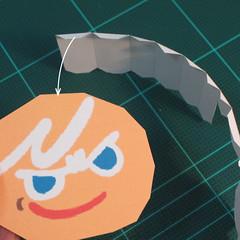 วิธีทำโมเดลกระดาษตุ้กตาคุกกี้รัน คุกกี้ผู้กล้าหาญ แบบที่ 2 (LINE Cookie Run Brave Cookie Papercraft Model Version 2) 006