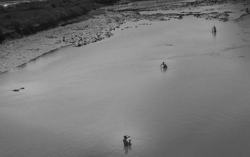 people india creek fishing maharashtra nets in shalllow vangaon