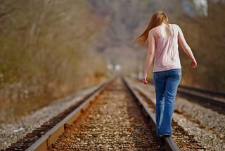Girl On Tracks | by Barta IV