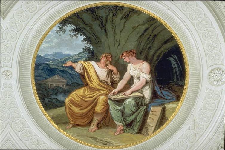 +1802 Numa Pompilio y la ninfa Egeria