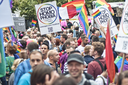 """""""Enough is enough – Open your mouth!"""", Demonstration against homophobia in Russia 