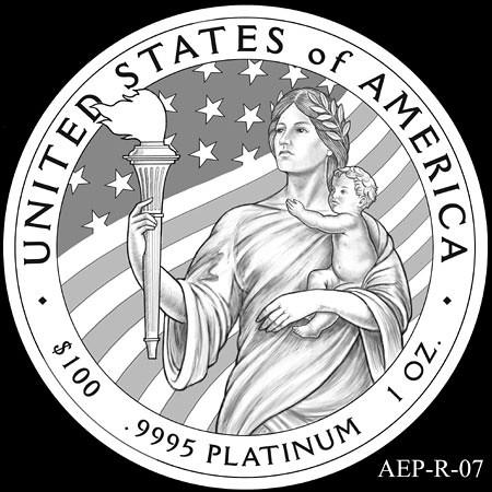 2014 American Eagle Platinum design AEP_R_07 | by Numismatic Bibliomania Society
