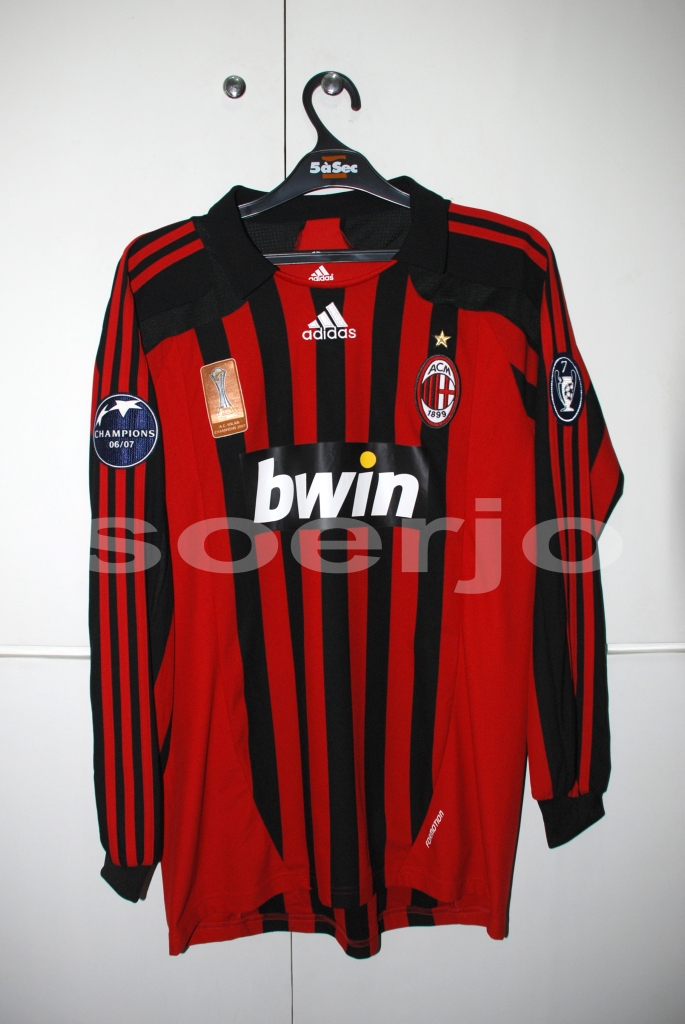 finest selection 10741 3ecb7 Ac Milan Formotion Home Kit Match Issue UCL Version 2007-2 ...