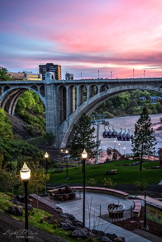 longexposure sunset beautiful canon landscape washington spokane cityscape 7d pacificnorthwest gondola pnw huntingtonpark usopen riverparksquare spokanefalls lightfxstudio