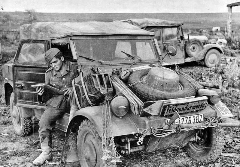 "French Volkswagen ""Kübelwagen"" on the Eastern Front, 1943"