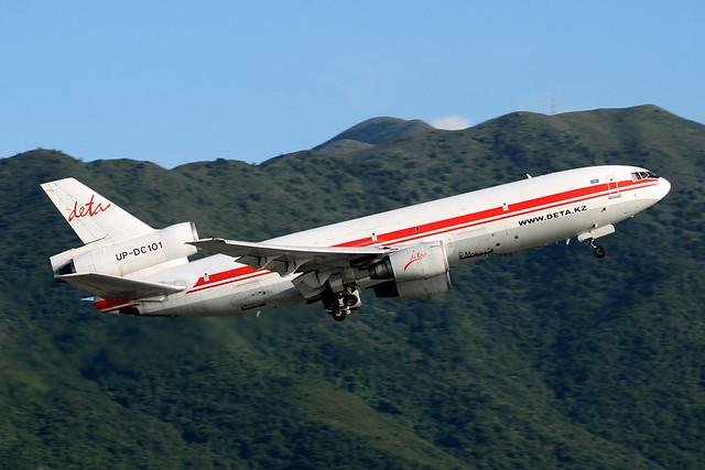Deta Air Cargo (DI/DET) / DC-10-40(F) / UP-DC101 / 08-16-2009 / HKG