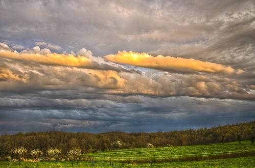 sunset sky clouds landscape ciel nuages paysage hdr