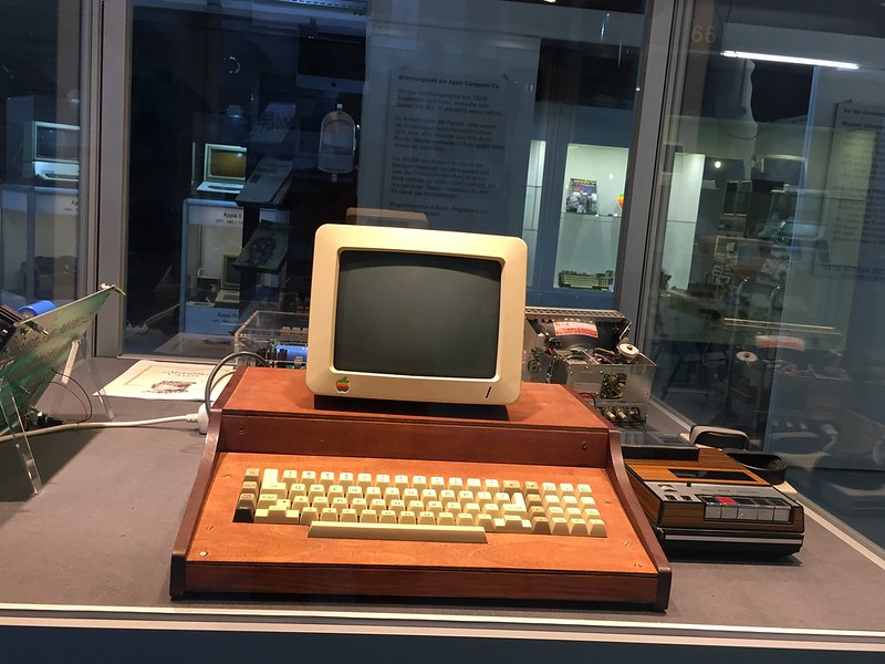 M - First Apple computer - wood