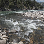 Hellroaring Creek flowing into Yellowstone River
