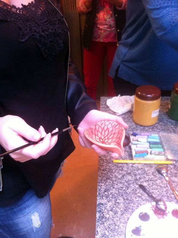 Dia do Ceramista  6 Pintura com terra