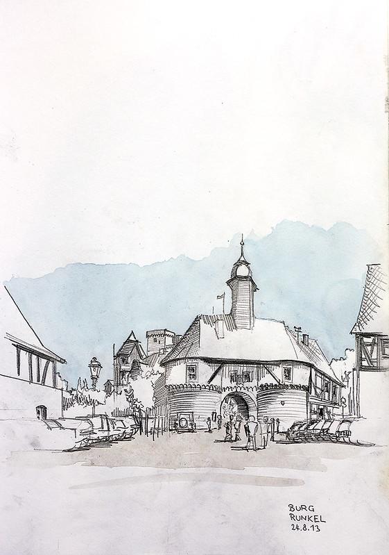 Burg Runkel, Burgtor · Runkel Castle, Gate