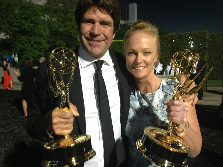 Greg Barker And Kerstin Emhoff After Winning An Emmy For M Flickr