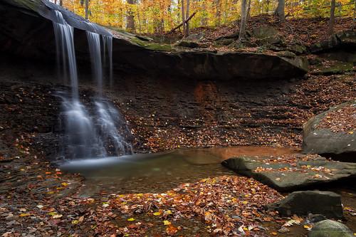 autumn ohio water waterfall cuyahogavalleynationalpark cvnp bluehenfalls 1740mmf4l autumnlandscapes leefilters joshuaclark 5dmkii momentsinnature