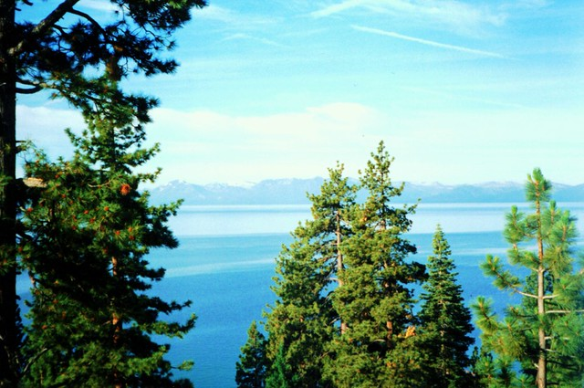 Lake Tahoe Nevada ~ South Shore ~ View from Resort ~ Old Film