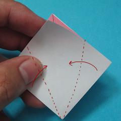 วิธีการพับกระดาษเป็นดอกไม้แปดกลีบ 005