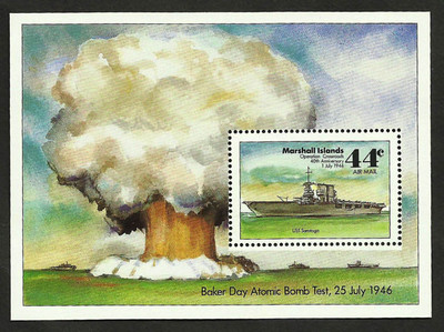 Baker Day Nuclear Bomb Test Marshall Islands Stamp Operation Crossroads