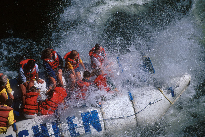 Whitewater River Rafting on the Thompson River; Outdoor Recreation in British Columbia, Canada