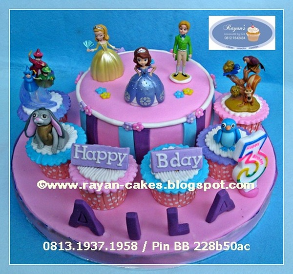 Super Sofia The First Birthday Cakes And Cupcakes Kue Ulangtah Flickr Funny Birthday Cards Online Overcheapnameinfo