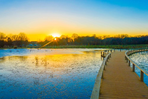 sunset sun lake sunrise river pond nikon dorset minster wimborne stour d3200