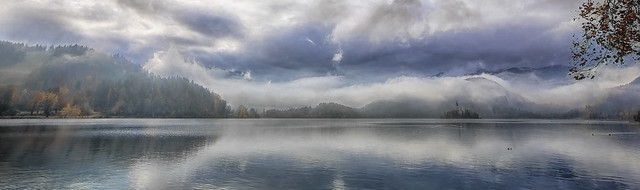 Panoramic view of the lake Bled, Slovenia