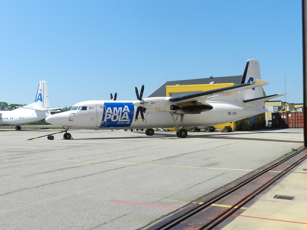 SE-LIS Fokker F-50 Amapola Flyg