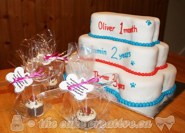 Puppy themed birthday cake &