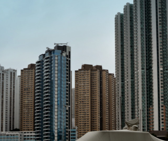 HONG KONG'S  SKYSCRAPERS MAKES FOR A WONDERFUL SKYLINE.  HONG KONG.