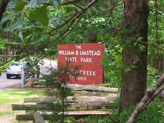 William B. Umstead State Park Reedy Creek entrance