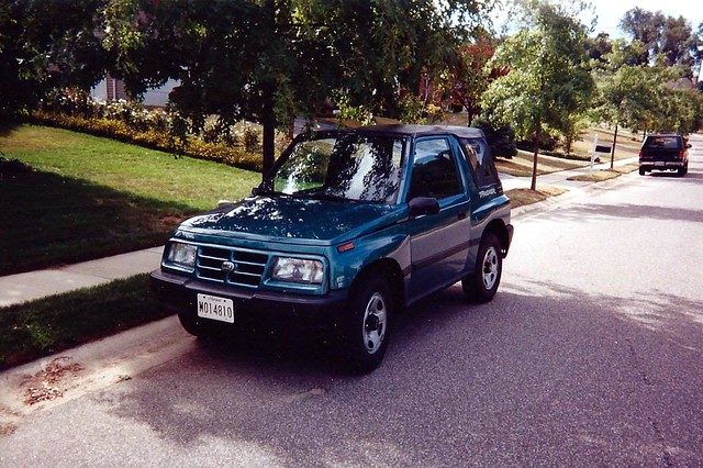 Cars I Haved Owned: 1997 Geo Tracker 2-Door Convertible, 4x4, SUV, Photographed in 1997