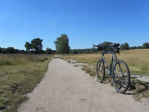 Für den sandigen Grund in der Westruper Heide war das grüne Waldrad heute die richtige Wahl.