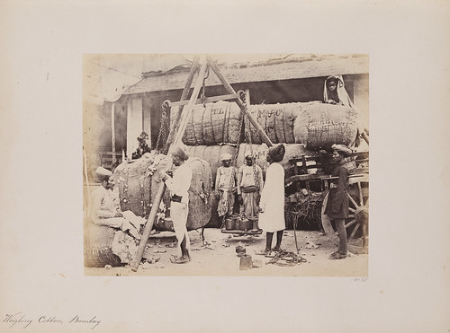 Weighing Cotton, Bombay | by SMU Libraries Digital Collections